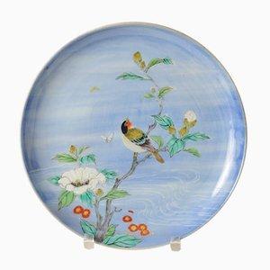 Assiette Antique en Porcelaine de l'Époque Meiji par Fukagawa pour Koransha, Japon
