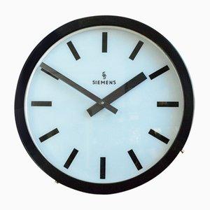 Large Illuminated Factory Clock from Siemens, 1960s