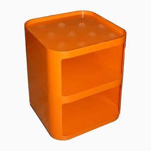Orange 4979/4970 Componibili Shelving Unit on Casters by Anna Castelli Ferrieri for Kartell, 1970s