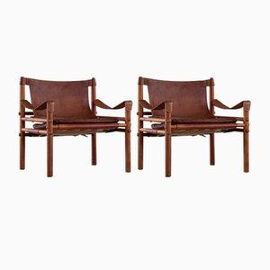 Sirocco Safari Stühle von Arne Norell, Aneby, Schweden, 1960er, 2er Set