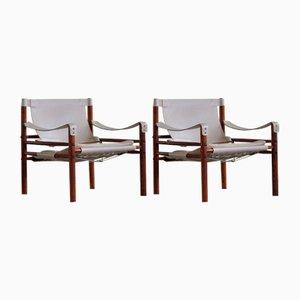 Schwedische Sirocco Safari Stühle von Arne Norell Ab, 1960er, 2er Set