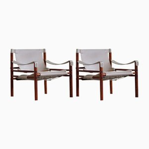 Swedish Sirocco Safari Chairs by Arne Norell Ab, 1960s, Set of 2