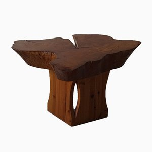 Burl Wood Coffee Table, in the Style of George Nakashima, 1960s