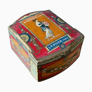 Antique French Art Nouveau Powder Box