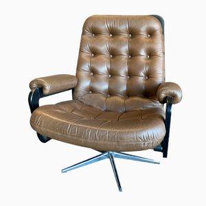 Sessel im Stil von Chesterfield, 1970er