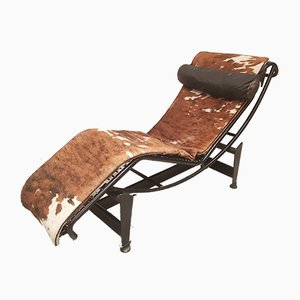 LC4 #3695 Lounge Chair by Le Corbusier for Cassina, 1968
