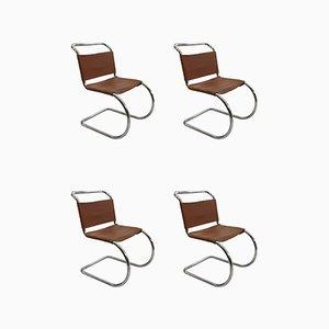 6er Set Ludwig Mies Van Der Rohe Mr10 Midcentury 1960er Jahre Esszimmerstühle von Knoll Inc. / Knoll International