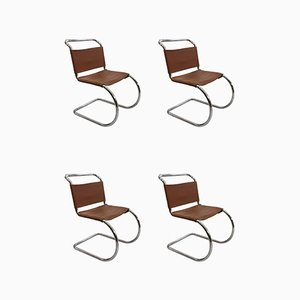 Model Mr10 Dining Chairs by Ludwig Mies Van Der Rohe for Knoll Inc. / Knoll International, Set of 4