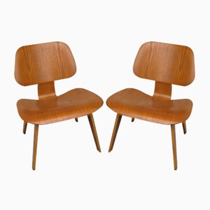 LCW Lounge Chairs by Charles & Ray Eames for Evans Plywood / Herman Miller, 1940s, Set of 2