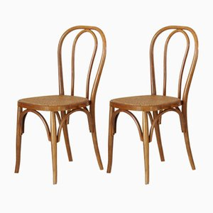 Bistro Stühle im Thonet Stil, 1900er, 2er Set