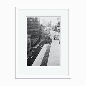 Marilyn Monroe on the Roof Silver Gelatin Resin Print Framed in White by Michael Ochs Archives
