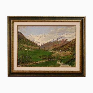 Small Landscape Painting, 20th-Century