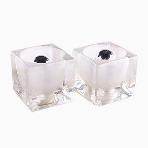 Ice Cube Tischlampe von Peill & Putzler, 2er Set