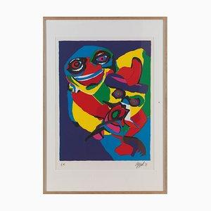 Stampa Appel Karel, maschera, 1971