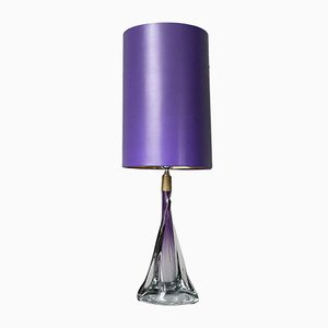 Große Kristallglas Lampe von Vannes Le Chatel