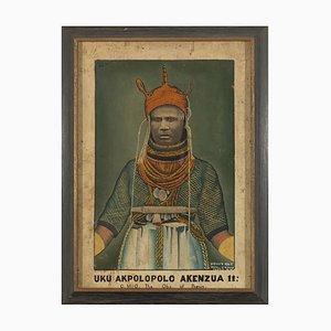 Spin of Ozoro, Portrait of Great Akolopolo Akenzua II of Benin (1933-1978), Oil on Board