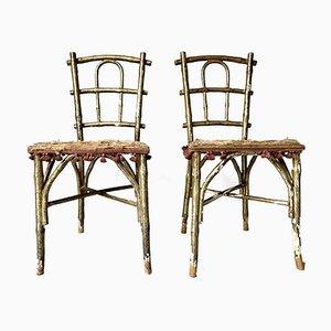 Chaises de Salon Faux Bamboo de Thonet, Set de 2
