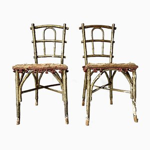 Faux Bamboo Parlor Chairs from Thonet, Set of 2