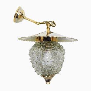 Lampada da soffitto in vetro e oro