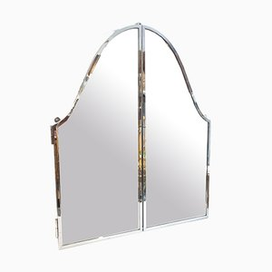Stainless Steel Triptych Mirror
