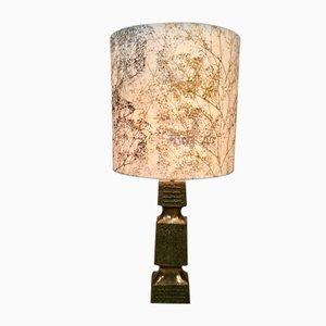 Large Brutalist Cast Stone Table Lamp, 1960s