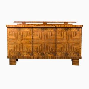 Art Deco Buffet aus Nussholz, 1930er