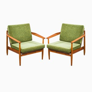Danish Teak Lounge Chairs, 1960s, Set of 2