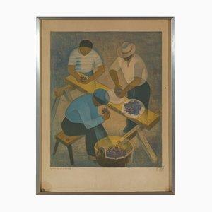 Toffoli Louis, The Purple Sea Erchins, Litografía