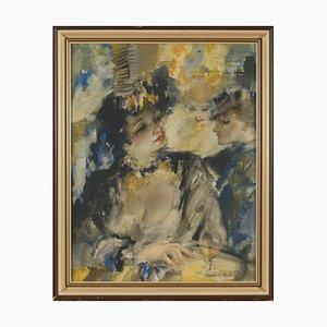 De Buck Raphael Courtesans, Watercolor