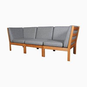 Model 280 Three-Seat Modular Sofa by Hans J. Wegner for Getama, Set of 3