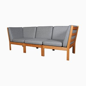 Modell 280 3-Sitzer Modulares Sofa von Hans J. Wegner für Getama, 3er Set