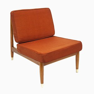 Low Swedish Beech Lounge Chair by Folke Ohlsson for Dux, 1960s