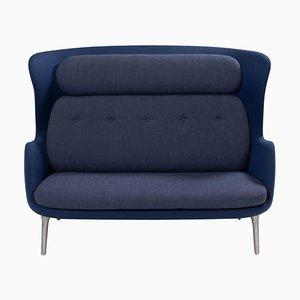 Blaues & Graues Ro Sofa von Jaime Hayon für Fritz Hansen