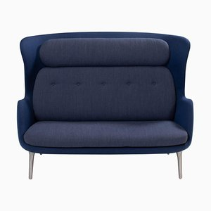 Blue and Grey Ro Sofa by Jaime Hayon for Fritz Hansen