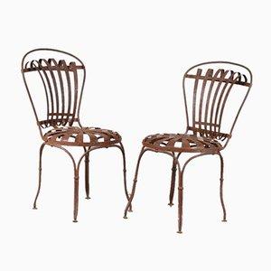 Gartenstühle von Francois Carre, Frankreich, 1950er, 2er Set