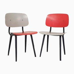 Revolt Dining Chairs by Friso Kramer for Ahrend De Cirkel, The Netherlands, 1950s, Set of 2