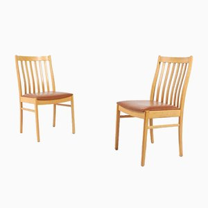 Vintage Swedish Oak Chairs, 1960s, Set of 6