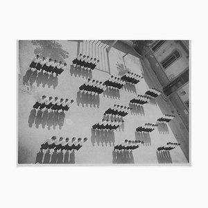 Inconnu, Éducation physique à l'école pendant le fascisme, Photo Vintage Noir et Blanc, 1930s