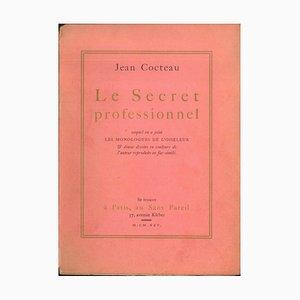 Jean Cocteau, Professional Secrecy, Illustrated Original Edition, 1925