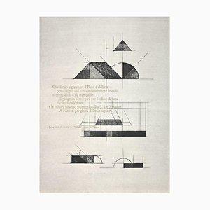 Walter Valentini, Nippur Temple, Original Etching, 1976