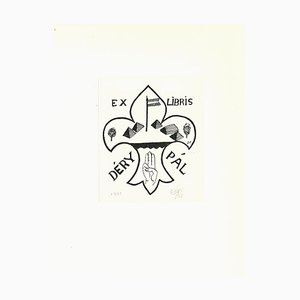 Unknown, Ex Libris Déry Pal, Original Woodcut, 1937