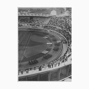 Unknown, March in the Municipal Stadium, Vintage Black & White Photo, 1930s