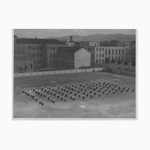 Inconnu, Fascisme, Exercices de Gymnastique Féminin, Photo Vintage Noir & Blanc, 1934