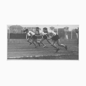 Unknown, Young Boys Are Training in Running During Fascism in Italy, Black & White Photo, 1934