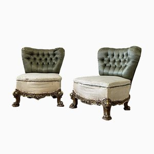 Chaise de Salon Dorée Antique, France