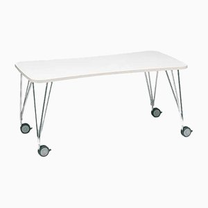 Table Max avec Roues Blanches par Ferruccio Laviani pour Kartell