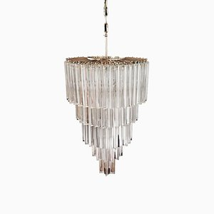 Large Murano Glass Prism Chandelier, 1970s