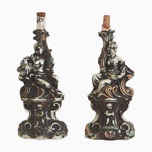 Ceramic Liquor Bottles, 1950s, Set of 2