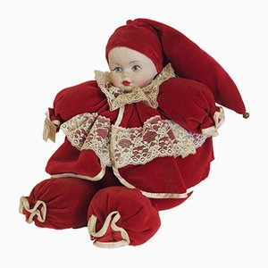 Hand-Painted Doll from Capodimonte, 1980s