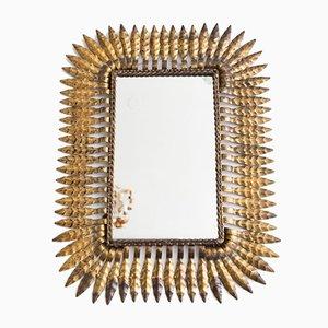 Spanish Metal Leaf Mirror, 1950s